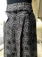 ETHOSENS(エトセンス)Rope pattern wide trousers/Green