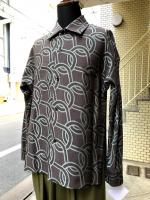 ETHOSENS(エトセンス)Rope pattern shirt/GREEN