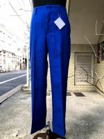 ETHOSENS(エトセンス)TURN UP LINEN TROUSERS/ BLUE
