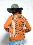 SEVESKIG:W-JACQUARD TIGER CARDIGAN(BROWN)