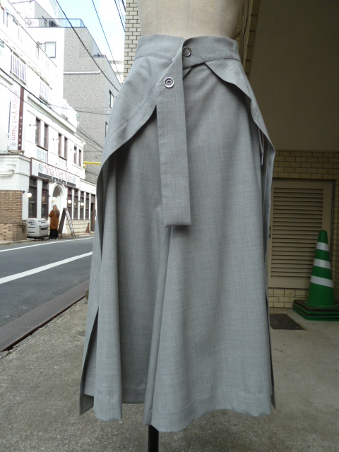 Ujoh(ウジョー):Layered Culottes(Light Gray)