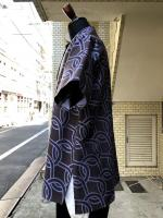 ETHOSENS(エトセンス)Rope pattern short sleeveshirt/BLUE