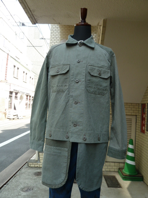 ink:Military Fatigue Sharts Jacket With Apron ①