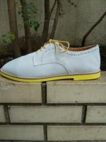 PADRONE : DERBY STRAIGHT TIP SHOES(ホワイト)