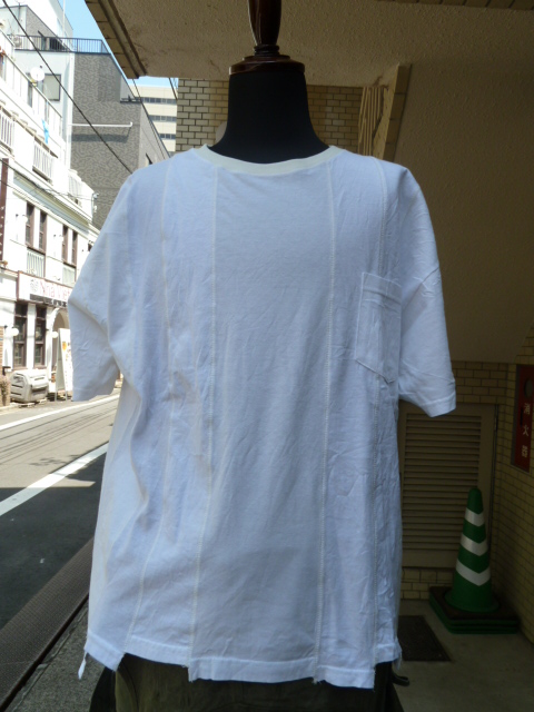 "ink(インク): Switching Pocket Tee ""LOOSE TEE""WHITE"