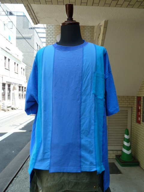 "ink(インク): Switching Pocket Tee ""LOOSE TEE""BLUE"