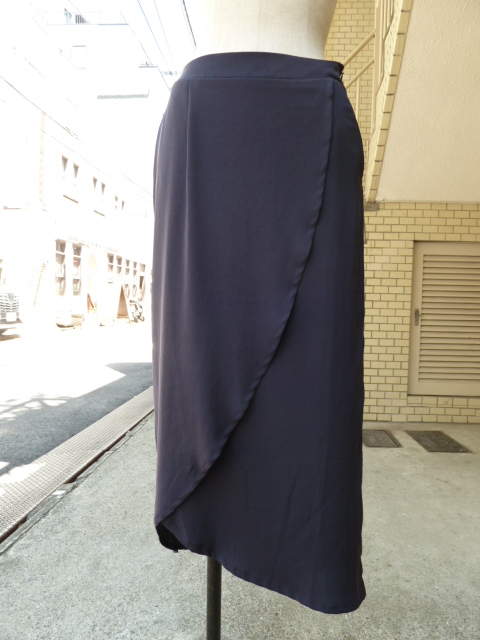 olta design garments:Wrap Skirt(NAVY)