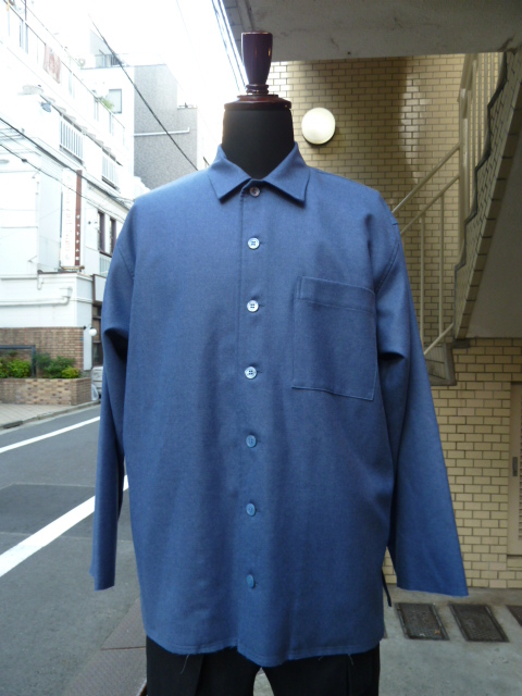 votole: CLEAR WOOL FLANNEL CPO JACKET  D Sax