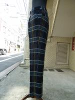 votole:WOOL LOOP CHECK SET UP TROUSERS NV