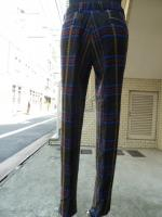 votole:WOOL LOOP CHECK SET UP TROUSERS BR