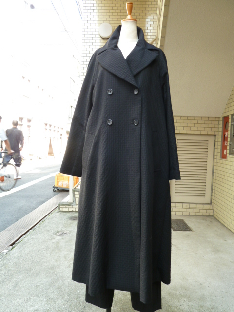 olta design garments ドビーロングコート(BLACK)