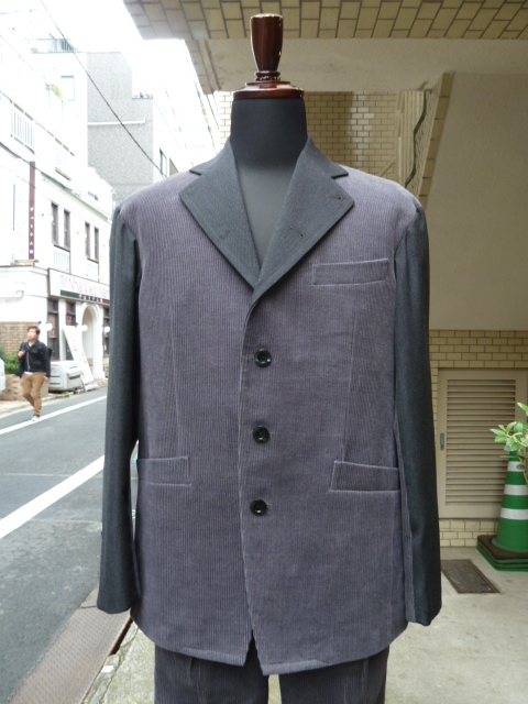 votole:WOOL CORDUROY CBN JACKET gray×gray