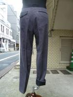votole:WOOL CORDUROY CBN 1P TROUSERS  gray×gray