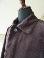 votole:BURN OUT POLKA DOTS CORDUROY ATELIER COAT