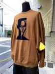 STOF/STRANGE FRUITS:GRACE JONES KNIT SWEATER/BROWN